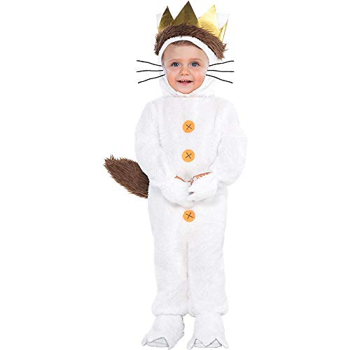 Costumes USA Where the Wild Things Are Classic Max Costume for Babies, Size 12-24 Months, Includes a Hood and a Tail -