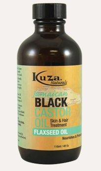 Kuza - Aceite de ricino negro jamaiquino con aceite de semillas de lino, tratamiento para