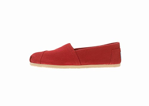 Kvinnor Duk Slip-on Red