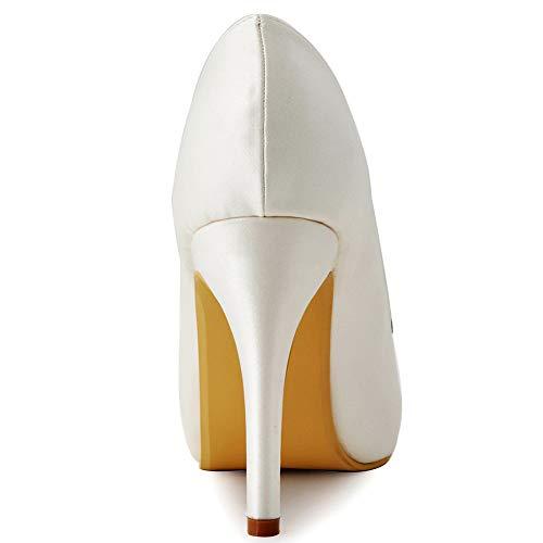 Femmes Robe Haut Prom Lhwan Demoiselle Pompes D'honneur Beige Court Chaussures Talon Satin 6TZdx5dRqw