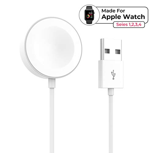 YJan iWatch Charger Magnetic Charging Module Simple Portable Charging Cable Compatible with Apple Watch Series 4 3 2 1 38mm 40mm 42mm 44mm(White)