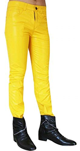 III-Fashions Freddie Mercury Wembley Concert Costume Yellow Leather Pants