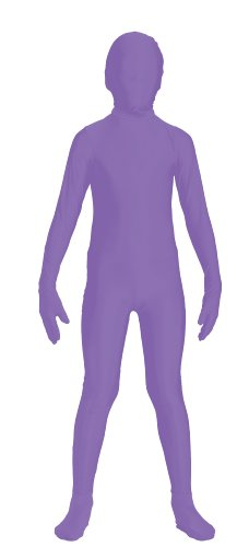 Invisible Woman Costume For Sale (Forum Novelties Women's Teen Disappearing Man Color Stretch Body Suit Costume, Neon Purple, Small/Medium)