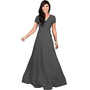55e715cb1a KOH-KOH-Plus-Size-Womens-Long-Cap-Short-Sleeve-V-Neck-Flowy-Cocktail- Slimming-Summer-Sexy-Casual-Formal-Sun-Sundress-Work-Cute-Gown-Gowns-Maxi- Dress-Dresses ...