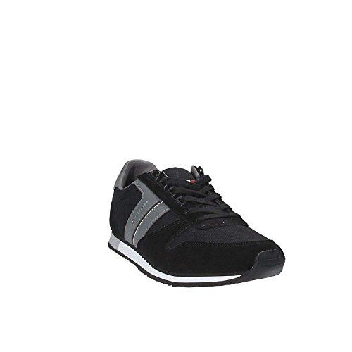 Tommy H. Sneakers Sportive Lacci Uomo Pelle Tessuto Red Rosso FM0FM01118