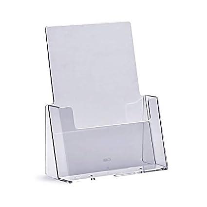 Prospekthalter DIN A5 Aufsteller Prospektst/änder Flyerhalter Flyerst/änder Acryl glasklar Prospekthalter A5