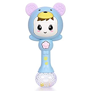 Refasy Baby Toys for Boys Girls 6-12 Months,Baby Musical Toys Rattles Shaker Newborn Toys for Toddlers 18-24 Months Baby Rattles Teethers Infant Early Educational Toy Best Xmas Birthday Gifts Blue