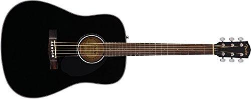 Fender 6 String Acoustic Guitar Finish, CD-60S Right, Black Guitar 0961701006 ()