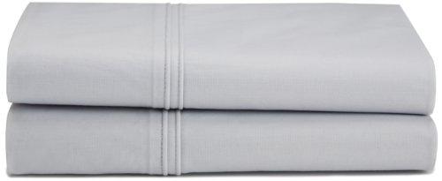 Calvin Klein Home Winter Branches Double Row Cord Percale Solid Pillowcase, (220 Percale Pillow Case)