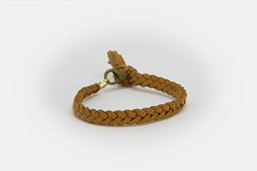 LoilJ Essential Oil Diffusing Bracelet - Braided 6in Cedar Brown by LoilJ