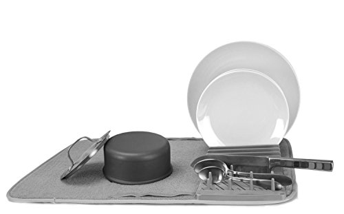 Cuisinart Dish Drying Rack and Ultra Absorbent Kitchen Dish Drying Mat, 100% Microfiber Polyester, 18 in x 24 in, ()
