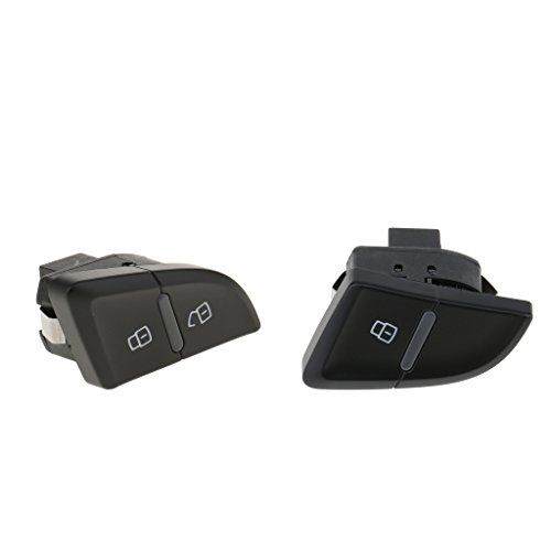 Baoblaze 2pcs ABS Plastic Car Central Door Lock Switch for Audi A4 A4L B8 8K0962108A 8K1962107A