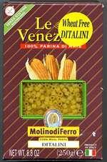 - Le Veneziane Italian Gluten Free Corn Pasta Ditalini 250