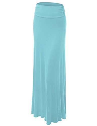 Made By Johnny WB296 Womens Lightweight Floor Length Maxi Skirt S ()