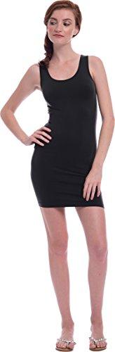 Basic Knit Tank Dress, One-Size, (Black Knit Basic Dress)