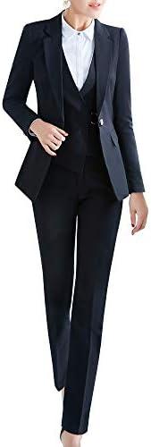 Women's Three Pieces Office Lady Stripe Blazer Business Suit Set Women Suits Work Skirt/Pant,Vest Ja
