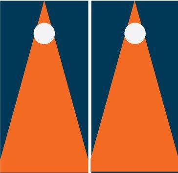 オレンジとネイビーMatching Noストライプ三角形Corn穴ボードCornhole Game Set Set B00CLVD6MK, モデリング レスキュー:5f7493ff --- gamenavi.club