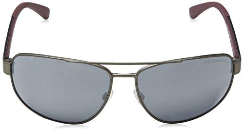 31306g de Rubber Armani Unisex Emporio Adulto Gafas Gunmetal Sol 6ZfWT