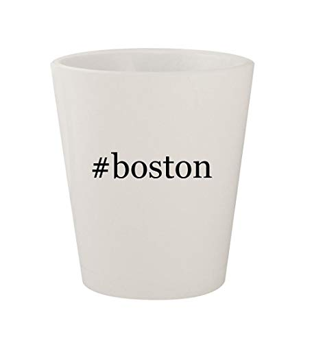 - #boston - Ceramic White Hashtag 1.5oz Shot Glass