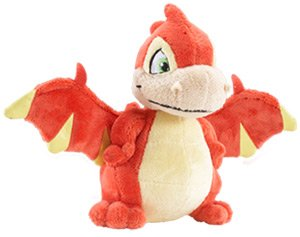 (Neopets Collector Species Series 1 Plush with Keyquest Code Red Scorchio [Basic Color])