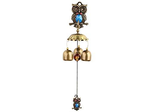 Abats-Jour HNBGY Ancien Chinois traditionnel Amazing Bells Owl Yard Jardin Outdoor Living Carillons éoliens Cuisine & Maison