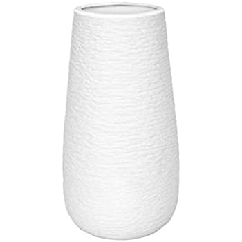 D'vine Dev 10 Inch White Ceramic Vase for Flowers, Ideal Gift Ready for Weddings, Party, Birthday, Events, Home Decor, Spa and Everyday Decor - Gift Box Packaged