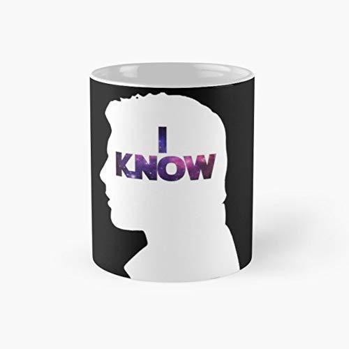 Star Wars Han 'I Know' White Silhouette Couple Tee Mug, star wars Cup, 11 Ounce Ceramic Mug, Perfect Novelty Gift Mug, Funny Gift Mugs, Funny Coffee Mug 11oz, Tea Cups 11oz ()