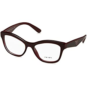 Prada PR29RV Eyeglass Frames UAN1O1-52 - Opal Bordeaux On Bordeaux PR29RV-UAN1O1-52