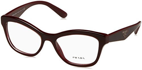 Prada PR29RV Eyeglass Frames UAN1O1-52 - Opal Bordeaux On Bordeaux - Bordeaux Frame