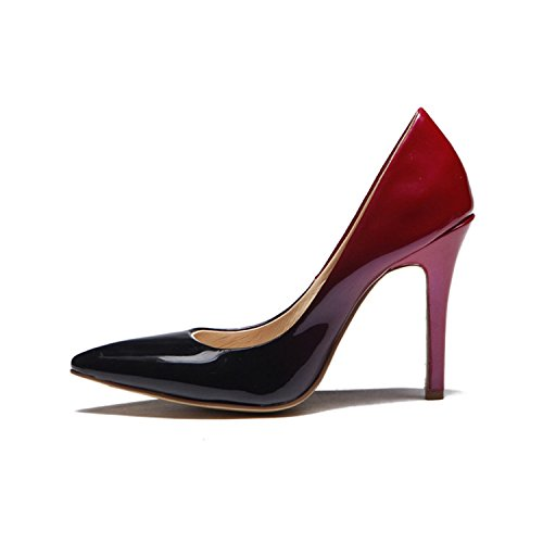 Kevin Fashion - Sandalias con cuña mujer Marrón - Wine Red/Black