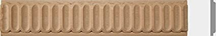 1-1/2w, 2w X 2ft,4pc,Total 8ft, Fluted Maple, Beech Wood, Red Oak Molding Moulding Trim (1-1/2W X 1/4TH X 2ft, Maple) 1-1/2w 2w X 2ft Zakros Design