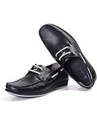 Pure Leather Mens Lace Up Dress Casual Loafers for Men - Slip-on Driving Shoes