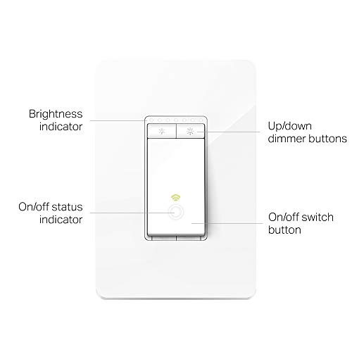 TP-LINK HS220P3 Kasa Smart WiFi Light Switch (3-Pack), Dimmer by TP-Link -  Dim Lighting from Anywhere, Easy In-Wall Installation (Single-Pol Only),