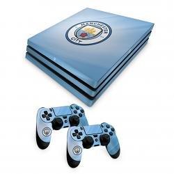 Officiel Manchester City FC PS4/Pro Console Peau et 2/x Skin pour Manette Combo Pack