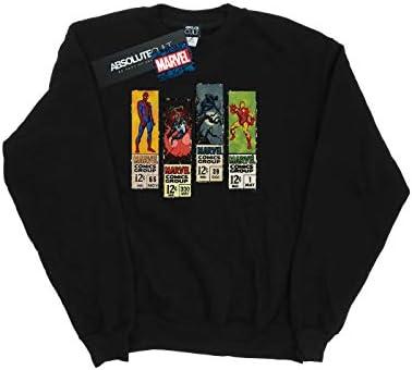 Marvel Universe Herren Comic Strips Sweatshirt Schwarz XX-Large