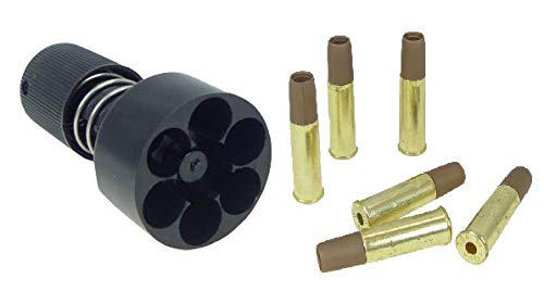 WG WinGun 6mm Revolver Metal Shells (6pcs) + One Speed Loader for 6-Round Revolver Shell Compatible with Dan Wesson Revolver, WinGun Revolver CO2 Revolver -