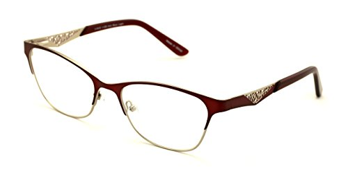 Women Fashion Stainless Steel Non-prescription Glasses Frame Clear Lens Metal Eyeglasses - Wide Fitment - Glasses Wide Prescription Frame
