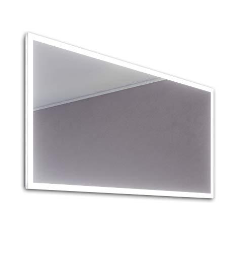 DIAMOND X COLLECTION Kiera Slimline Edge LED Bathroom Mirror with Demister Pad -