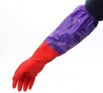 Souked Lavare a secco maniche lunghe lattice di gomma Cashmere guanti