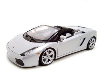 Lamborghini Gallardo Spyder Silver Diecast Model 1:18 Die Cast Car
