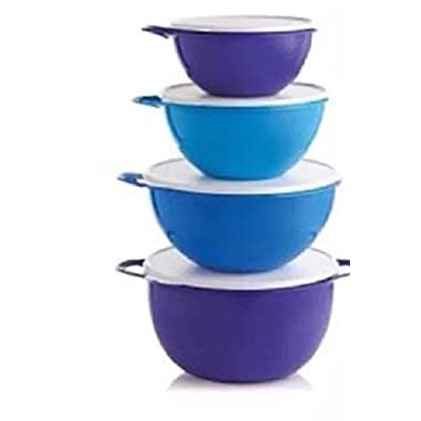 Tupperware Thatsa Bowl Set of 4 Bowls, Various Blues and Purple