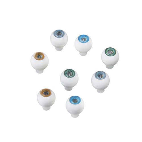 10 Mm Round Acrylic - 4 Pairs 4 Colors Round Acrylic Doll Eyes Eyeballs 10mm