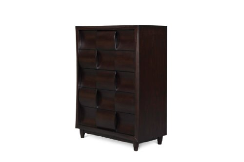 Cherry 10 Drawer Dresser (Magnussen Fuqua B1794-10 Wood 5-Drawer Chest)