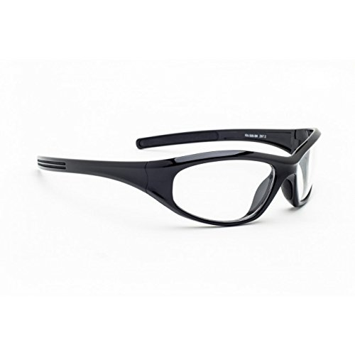 X-ray Radiation Leaded Protective Eyewear in Woman's Stylish, Lightweight and Comfortable Wrap-around Plastic Safety Frame That Is Designed to Hug the Contour of Your Face Blocking Light From All - Eyewear Is