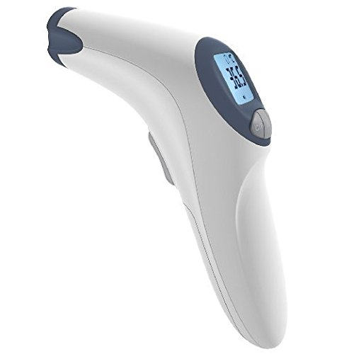 MeasuPro Non-Contact Forehead Infrared Thermometer with Customizable Fever Alert and Large LCD Display, CE and FDA Approved