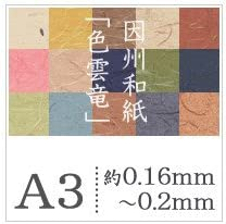 松本洋紙店 因州和紙「色雲竜」 A3サイズ:500枚 茶(1243)