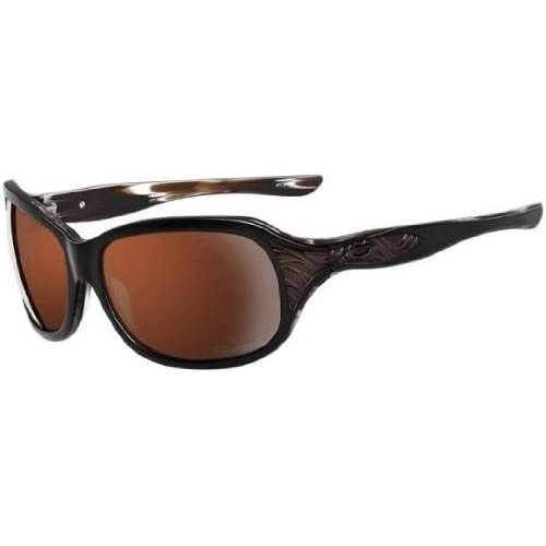 oakley embrace sunglasses womens  amazon: oakley embrace sunglasses women's eyewear 000 mocha/vr28 black polarized