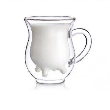 Amazon.com: Souked Mini ubre de vidrio crema taza Botella de ...