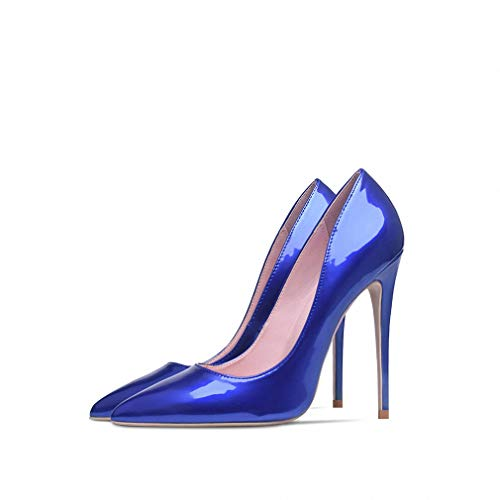 Womens High-Heeled Pumps Shoes Shoes Woman High Heels Pumps 12cm Tacones Pointed Toe Stilettos Talon Femme Sexy Ladies Wedding Shoes Black Heels Big Size Royal Blue 7