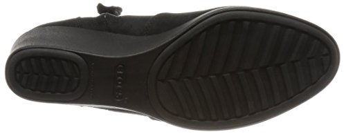 CROCS Femme - Leigh Synth Suede Wedge Bootie black, Taille:38 EU